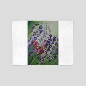 Cordillia the lavender fairy 5'x7'Area Rug