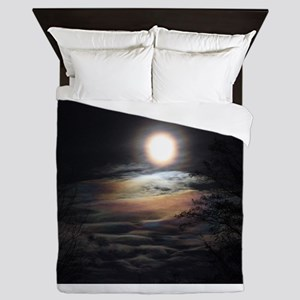 Sea at the end of the Moon Queen Duvet