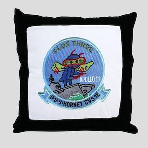 Apollo 11 & CVS-12 Throw Pillow