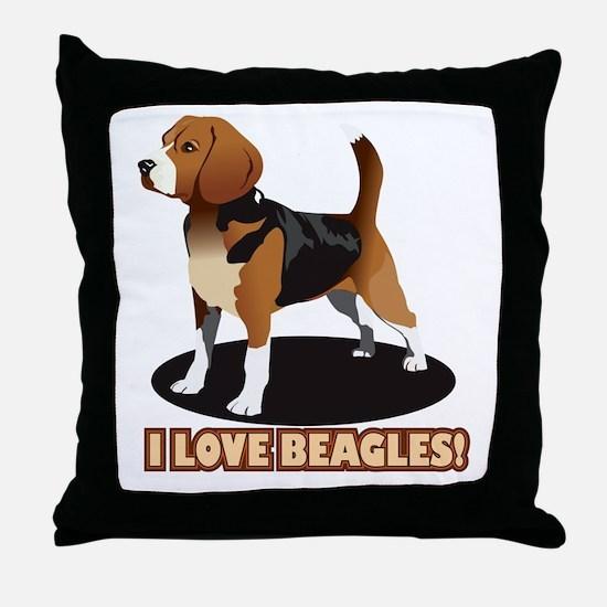 I love Beagles! Throw Pillow