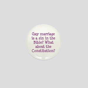 gay marriage is a sin in the Bible? Mini Button
