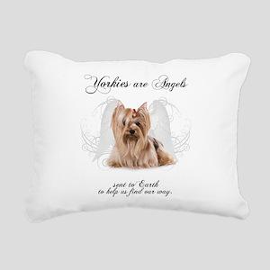 Angel Yorkie Rectangular Canvas Pillow