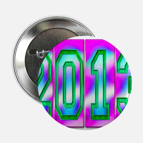 """Electric 2013 - Pink Blue Green 2.25"""" Button"""