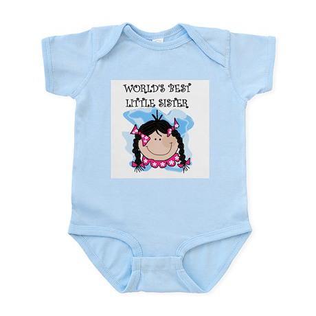 (Black) Best Little Sister Infant Bodysuit
