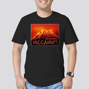 VOLCANOES Men's Fitted T-Shirt (dark)