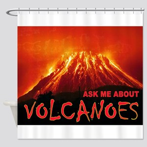 VOLCANOES Shower Curtain