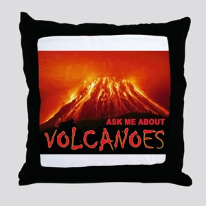 VOLCANOES Throw Pillow