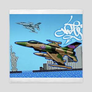 Graffiti Jet Queen Duvet