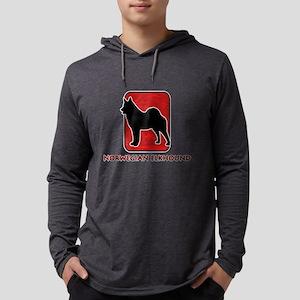 8-redsilhouette Mens Hooded Shirt