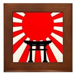 Japanese Torii in the Shadow of the Rising Sun Fra