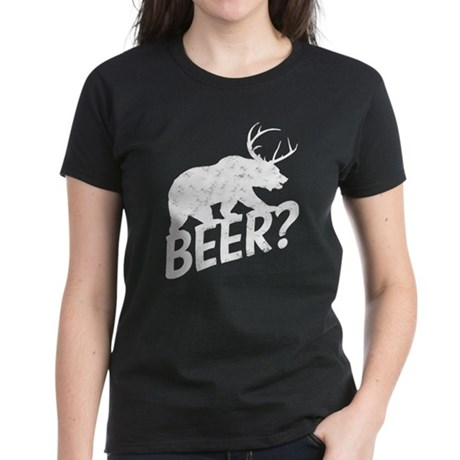 The Bear Deer Beer Women's Dark T-Shirt