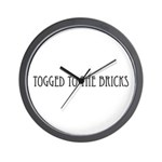 Togged to the Bricks Wall Clock
