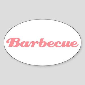 Barbecue Oval Sticker