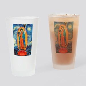 CrossFit Lady of Guadalupe Drinking Glass