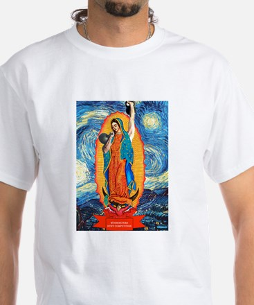 CrossFit Lady of Guadalupe White T-Shirt