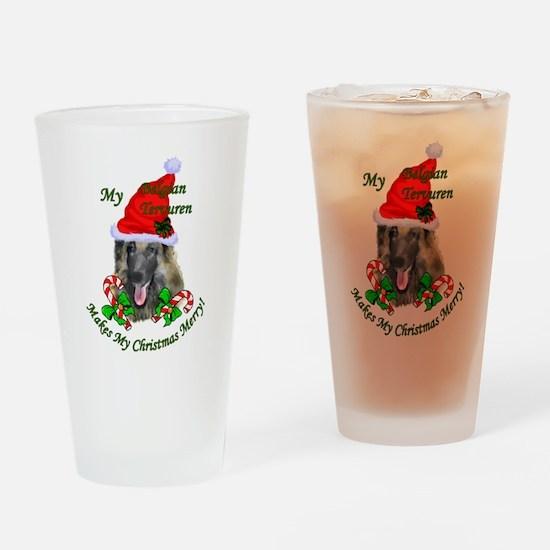 Belgian Tervuren Christmas Drinking Glass