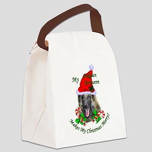 Belgian Tervuren Christmas Canvas Lunch Bag
