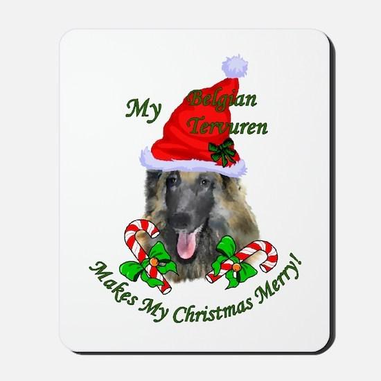 Belgian Tervuren Christmas Mousepad