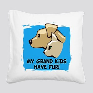 Grand Kids Fur Square Canvas Pillow