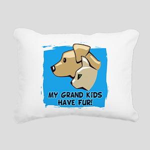 Grand Kids Fur Rectangular Canvas Pillow