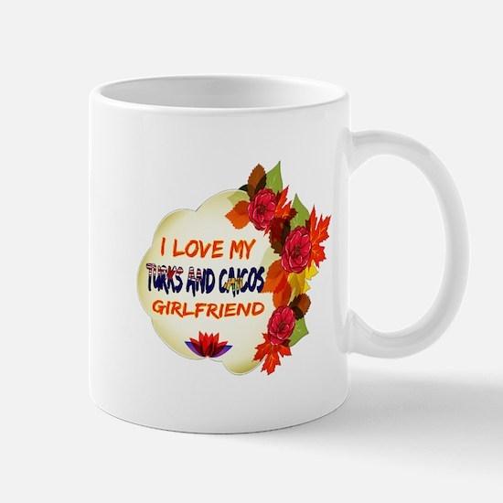 Turks and Caicos Girlfriend Valentine design Mug