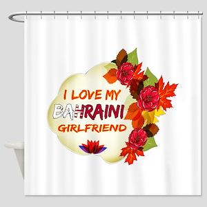 Bahraini Girlfriend Valentine design Shower Curtai