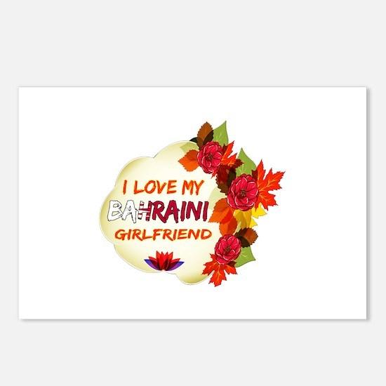 Bahraini Girlfriend Valentine design Postcards (Pa