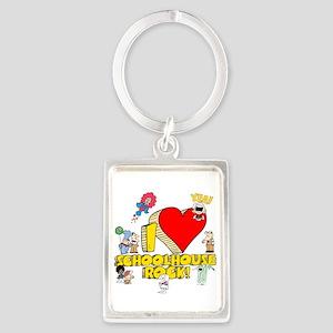 I Heart Schoolhouse Rock! Portrait Keychain
