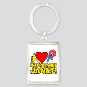 I Heart Interplanet Janet! Portrait Keychain