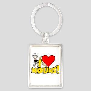 I Heart Nouns Portrait Keychain