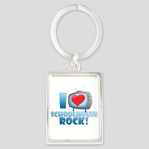 I Heart Schoolhouse Rock Portrait Keychain