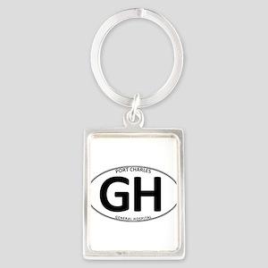 General Hospital - GH Oval Portrait Keychain