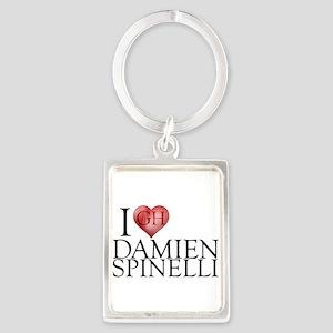 I Heart Damien Spinelli Portrait Keychain