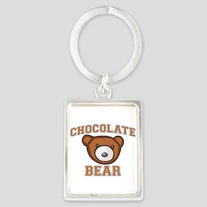 Chocolate Bear Portrait Keychain