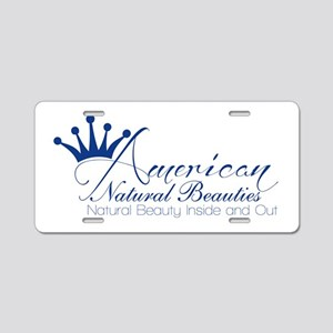 White Aluminum License Plate