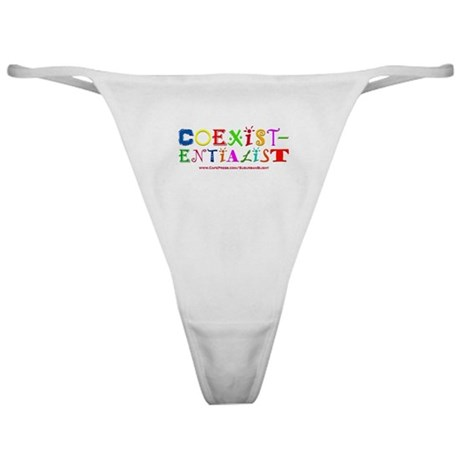"""Coexistentialist"" Classic Thong"