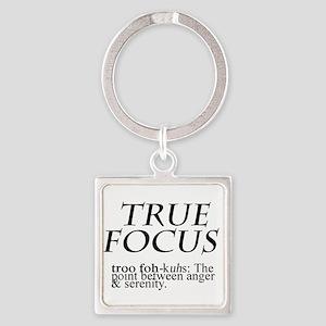 True Focus Square Keychain