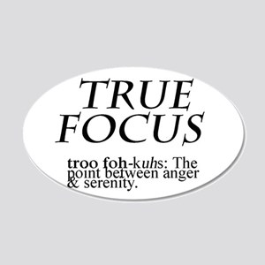 True Focus 20x12 Oval Wall Decal