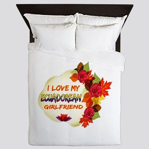 Ecuadorean Girlfriend Valentine design Queen Duvet