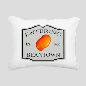 enteringbeantown1a Rectangular Canvas Pillow