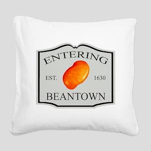 enteringbeantown1a Square Canvas Pillow