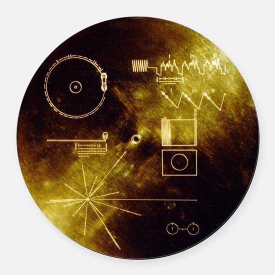 Voyager's Gold Record Round Car Magnet
