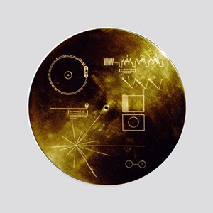 """Voyager's Gold Record 3.5"""" Button"""