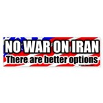No War On Iran Bumper Sticker