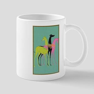 Art Deco Ornate Greyhounds Mug