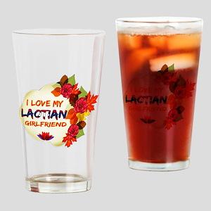 Laotian Girlfriend Valentine design Drinking Glass