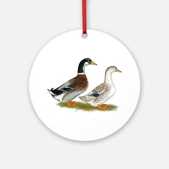 Appleyard Silver Ducks Ornament (Round)