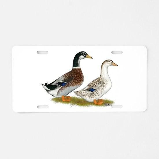 Appleyard Silver Ducks Aluminum License Plate