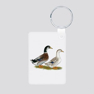 Appleyard Silver Ducks Aluminum Photo Keychain