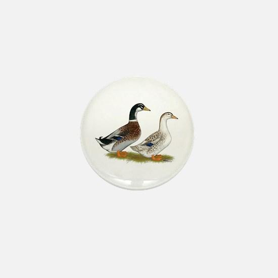 Appleyard Silver Ducks Mini Button